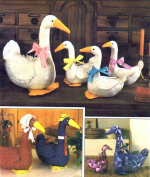 Simplicity 6721 Crafts Sewing Pattern Stuffed Goose Geese