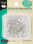 Extra-Fine Glass Head Pins-Size 22 250/Pkg - 642184
