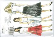 Vogue V8197 Full Skirt in 3 Styles Chevron Stripe Size 14-16-18-20