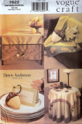 Vogue 7622 sewing pattern makes Autum Fall Acorn Leaf Home Decor Pillows, Tablecloths, More Rare OOP
