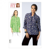Vogue Patterns V1385OSZ Misses' Top Sewing Template, One Size Only
