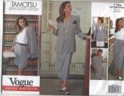 Vogue Tamotsu Career Wardrobe Jacket, Dress, Top, Skirt and Shorts Sewing Pattern # 1166