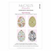 McCall's Creates W10617 Paper Quilt Creations Craft Pattern, Bejewelled Egg Greeting Card