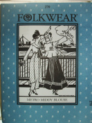 Folkwear 270 Metro Middy Blouse WWI Era Sewing Costume Pattern