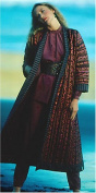 Folkwear 106 Turkish Coat Sewing Ethnic Pattern Reversible Quilted Vintage 1975