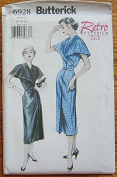 Butterick 6928 Sewing Pattern ~ Retro '53 Misses' A-line Mock Wrap Dress with Capelet, Sizes 8-10-12
