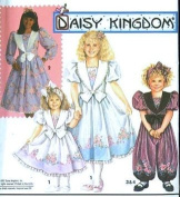 Simplicity 7698 Girls Daisy Kingdom Dress or Jumpsuit Sewing Pattern, Size H
