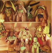 Simplicity 8104 Sewing Pattern 38cm and 46cm Stuffed Decorative Jointed Rabbits or Bunny