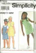 Girls Dress Or Jumper And Jacket (Simplicity Sewing Pattern 7489, Size