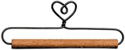 New - Fabric Holder With 30cm Dowel-Single Heart by Ackfeld