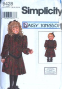 Simplicity 9428 - Daisy Kingdom Girl Dress Pattern with Bonus 46cm Doll Dress Pattern-Size HH 3-6