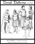 Men's Cotehardies and Sideless Surcoats Pattern