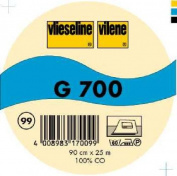 Vilene Iron-on Woven interfacing G 700 black-coloured; width 35.10 inch/90cm, price per metre