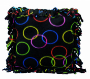 Haan Crafts Alpine Fleece Fringed Pillow Sewing Kit, 36cm