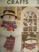 McCall's Crafts Pattern 3312 Snowmen And Snowcone Decorations