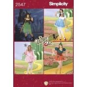 Simplicity Pattern 2547 Wizard of Oz Costumes