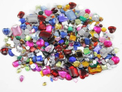 1 lbs of Bulk Crafting Gems. Assorted Colours, Shapes & Sizes. Over 1000 Pieces