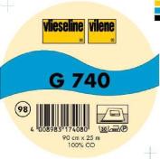Vilene Iron-on Woven interfacing G 740 black-coloured; width 35.10 inch/90cm, price per metre