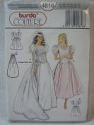 Burda Pattern 4816 Wedding Gown with Chevron Drop Waist & Detachable Train [Sizes 8 - 18]
