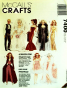 McCall's Craft Fashion Doll Clothes # 7400