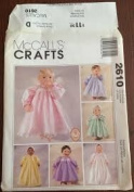 McCall's Crafts Pattern 2610 Clothes for 25cm - 30cm , 36cm - 41cm , 46cm - 50cm Dolls