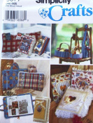 Simplicity Photo Album Cover, Baskets, Wine Bottle and Book Carriers Sewing Pattern #9877