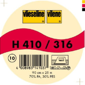 Vilene Iron-on nonwoven interfacing H 410 white-coloured; width 35.10 inch/90cm, price per metre