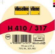Vilene Iron-on nonwoven interfacing H 410 black-coloured; width 35.10 inch/90cm, price per metre