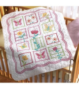Bucilla 43902 Stamped Cross Stitch Kit, 90cm by 110cm Crib Cover, Sophie