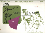 Vintage 1967 Stretch & Sew Pattern - Ladie's Saddle Shoulder Sweater Knit Fabric Pattern By Ann Person - Pattern No. 1650 - Bust Sizes 32, 34, 35, 38, 40