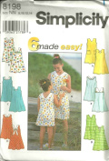 Childs And Girls Dress (Simplicity Sewing Pattern 8198, Size