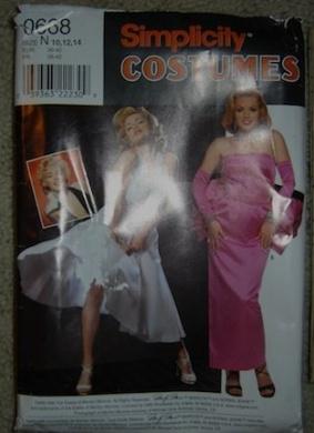 Simplicity Costumes Pattern 0668/8393 Marilyn Monroe Dress Sz. N, 10/12/14