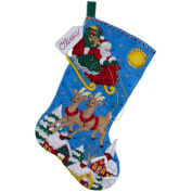 BUCILLA Over The Rooftops Felt Applique Stocking Kit, 46cm