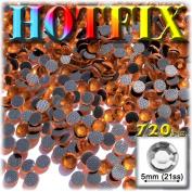 The Crafts Outlet DMC HOTFIX Superior Quality Glass 720-Piece Round Rhinestones Embellishment, 5mm, Orange