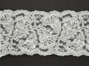 Beaded Sequin Flower Embroidery Lace Trim, Costume, Crafts and Sewing, 11cm by 1 Yard, ROI-44307