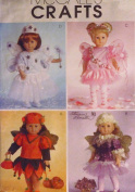 McCall's M4741 Fairy Costumes Sewing Pattern 46cm Doll Clothes ~ (4741) AMERICAN
