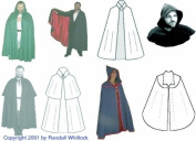 Cape Collection Pattern Suitable to Make Renaissance - Colonial - Victorian - Edwardian Capes and Cloaks