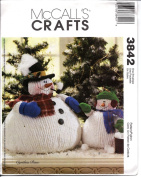 McCall's Crafts Pattern 3842 Chubby Snowman and Snow Child