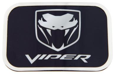 Dodge Viper Logo Black Background with Silver Framed Official Licenced Belt Buckle