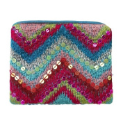 Lisbeth Dahl Turquoise Purse with Embroidery Sequins