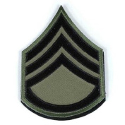 Matrix Military Ranking Embroidery Patch with hook and loop Staff Sergeant