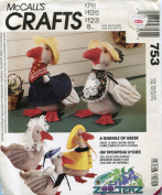 McCall's Crafts Pattern 753 ~ A Gaggle of Geese ~ 30cm Stuffed Goose Doll with Wardrobe