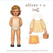 Oliver + S Class Picnic Blouse & Shorts Sz 5-12 Ptrn