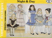 Sunrise Designs Night & Day Pattern ~ Girls' Dresses, Nightgown & Babydoll Pyjamas ~ 5-6-7