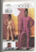 Vogue 7738 Misses Tunic, Duster, Top and Pants Sewing Pattern