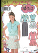 Simplicity Lizzie McGuire Sewing Pattern - Girls Plus jacket in Two Lengths, Skirt, Pants and Top - Size AA 8-16 #4261