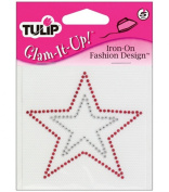 Glam-It Up Iron-On Designs-Red Star