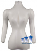 Inflatable Mannequin, Female Torso with Arms, Ivory