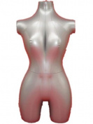 New Female 3/4 Form Inflatable Mannequin Torso Dummy Model Fashion Dress Display