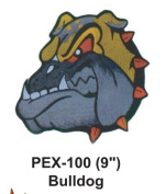 23cm Embroidered Animal Patch Bulldog